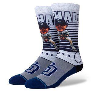 STANCE Manny Machado Big Head Socks Size L 9-13